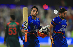 September 20, 2018 - Abu Dhabi, United Arab Emirates - Afghanistan cricketer Rashid Khan during the 6th cricket match of Asia Cup 2018 between Bangladesh and Afghanistan at the Sheikh Zayed Stadium,Abu Dhabi, United Arab Emirates on September 20, 2018. (Credit Image: © Tharaka Basnayaka/NurPhoto/ZUMA Press)