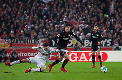 December 8, 2017 - Stuttgart, Germany - Stuttgarts Marcin Kaminski in a duel with Leverkusens Kai Havertz during the Bundesliga match between VfB Stuttgart and Bayer 04 Leverkusen at Mercedes-Benz Arena on December 8, 2017 in Stuttgart, Germany. (Credit Image: © Bartek Langer/NurPhoto via ZUMA Press)