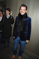 MATTHEW WILLIAMSON at the launch party of the Cheap Date Guide to Style by Kira Jolliffe and Bay Garnett held at Kabaret's Prophecy,  16-18 Beak Street, London on 15th February 2007.<br />