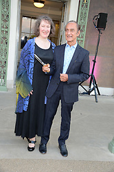 Joanna Marschner senior curator for Historic Royal Palaces and David Sassoon, the 'Fashion Rules' Exhibition Curator at the Fashion Rules Exhibition Opening at Kensington Palace, London W8 on 4th July 2013.