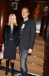 PETRINA KHASHOGGI and LORD EDWARD SPENCER-CHURCHILL at a party at Ralph Lauren, Bond Street, London in support of the NSPCC's Full Stop campaign on 21st March 2006.<br />