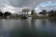 """Henley on Thames. United Kingdom.  General View across at """"Phyllis Court Club"""". the River Thames at the Oxfordshire. Henley Reach.   <br /> <br /> Saturday  28/01/2017<br /> <br /> © Peter SPURRIER<br /> <br /> LEICA CAMERA AG  LEICA Q (Typ 116)  f8  1/500sec  28mm  3.4MB"""