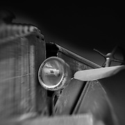 Rusted Auto In The Sky - Motor Transport Museum - Campo, CA - Lensbaby - Black & White