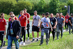 LYON, FRANCE - Wednesday, July 6, 2016: Wales' Gareth Bale on a pre-match walk near their team hotel before the UEFA Euro 2016 Championship Semi-Final match against Portugal. (Pic by David Rawcliffe/Propaganda)