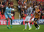 Millwall goalkeeper Jordan Archer catches the ball during the Sky Bet League 1 play-off final at Wembley Stadium, London<br /> Picture by Glenn Sparkes/Focus Images Ltd 07939664067<br /> 20/05/2017
