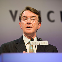 London November 24th The secretary of state Lord Mandelson  gives a keynote address at the CBI meeting in London on Nov 24 2008...Please telephone : +44 (0)845 0506211 for usage fees .***Licence Fee's Apply To All Image Use***.IMMEDIATE CONFIRMATION OF USAGE REQUIRED.*Unbylined uses will incur an additional discretionary fee!*.XianPix Pictures  Agency  tel +44 (0) 845 050 6211 e-mail sales@xianpix.com www.xianpix.com