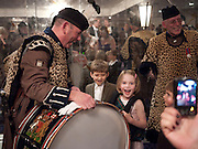 PIPERS WITH CHILDREN, The Royal Caledonian Ball 2010. Grosvenor House. Park Lane. London. 30 April 2010 *** Local Caption *** -DO NOT ARCHIVE-&copy; Copyright Photograph by Dafydd Jones. 248 Clapham Rd. London SW9 0PZ. Tel 0207 820 0771. www.dafjones.com.<br /> PIPERS WITH CHILDREN, The Royal Caledonian Ball 2010. Grosvenor House. Park Lane. London. 30 April 2010