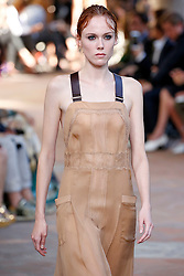 Model Kiki Willems  walks on the runway during the Alberta Ferretti Fashion Show during Milan Fashion Week Spring Summer 2018 held in Milan, Italy on September 20, 2017. (Photo by Jonas Gustavsson/Sipa USA)