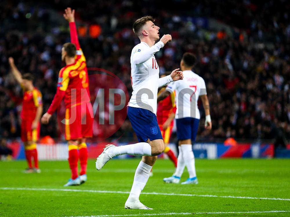 Mason Mount of England looks frustrated after his goal is ruled offside - Rogan/JMP - 14/11/2019 - FOOTBALL - Wembley Stadium - London, England - England v Montenegro - UEFA Euro 2020 Qualifiers.