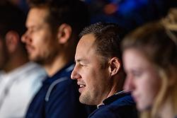 06-01-2019 NED: Dela Beach Open, Den Haag<br /> Netherlands (Alexander Brouwer #1/ Robert Meeuwsen #2) lost the bronze medal from Russia 1-2 / Coach Gijs Ronnes and in the background ass. coach Reinder Nummerdor