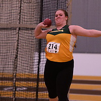 Jenelle Sunderland in action during the 2018 Canada West Track & Field Championship on February  23 at James Daly Fieldhouse. Credit: Arthur Ward/Arthur Images