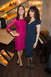 Left to right, LINZI STOPPARD and ASLI BAYRAM at the launch of La Maison Remy Martin pop-up private members club at 19 Greek Street, Soho, London on 2nd November 2015.