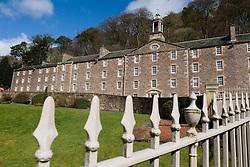 Historic buildings at New Lanark UNESCO World Heritage site in Scotland United Kingdom