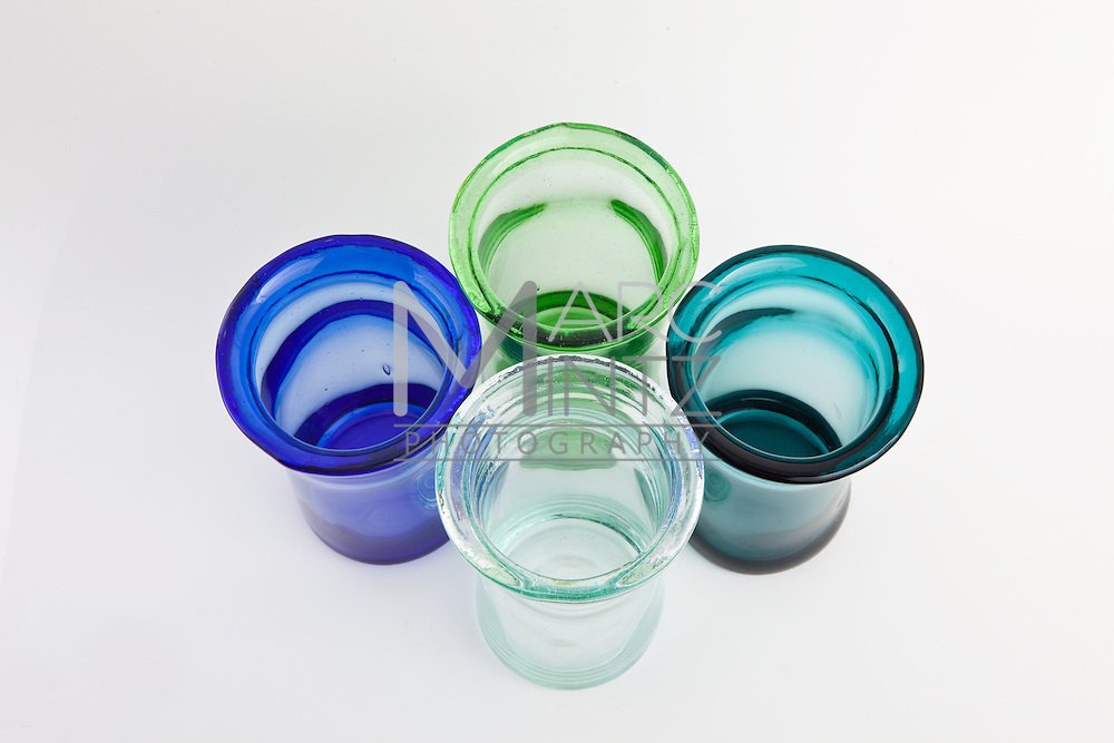 Innovative and practical products all made from recycled materials and sold by Aurora Glass in Eugene, Oregon.