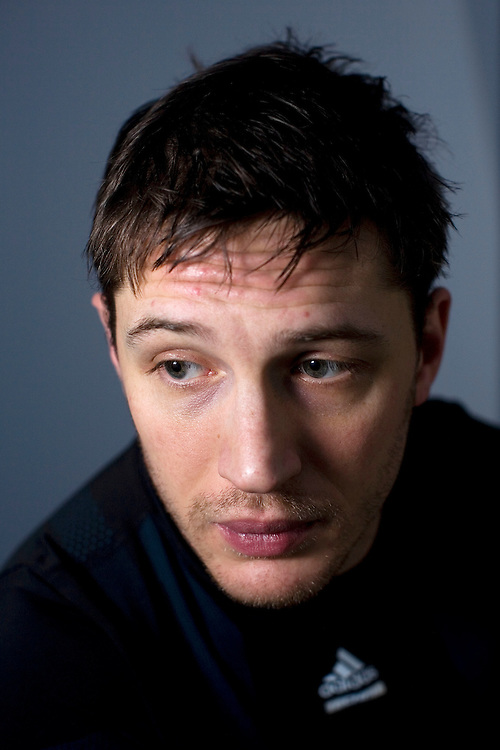 UK. London. Actor Tom Hardy who stars in the new film Bronson about the famous serial killer. Hardy is working out for a new film as a cage fighter.