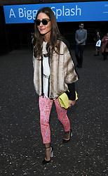 Olivia Palermo attends the Unique show during London Fashion Week Fall/Winter 2013/14 at TopShop Show Space in London, UK. 17/02/2013<br />BYLINE MUST READ : GOTCHAIMAGES.COM<br /><br />Copyright by © Gotcha Images Ltd. All rights reserved.<br />Usage of this image is conditional upon the acceptance <br />of Gotcha Images Ltd, terms and conditions available at<br />www.gotchaimages.com