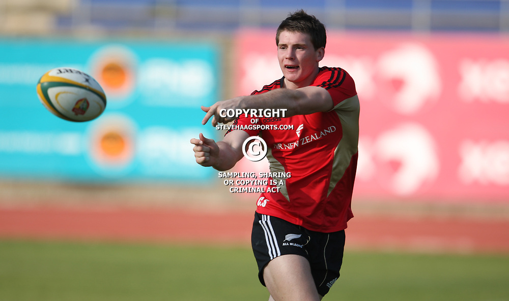 PORT ELIZABETH, SOUTH AFRICA - AUGUST 18, Colin Slade during the New Zealand national rugby team training session at Xerox Arena on August 18, 2011 in Port Elizabeth, South Africa<br /> Photo by Steve Haag / Gallo Images