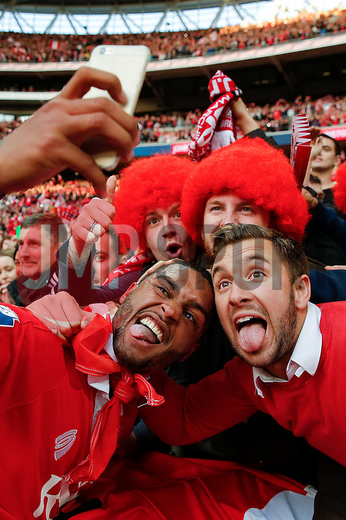 after Bristol City win the match 2-0 - Photo mandatory by-line: Rogan Thomson/JMP - 07966 386802 - 22/03/2015 - SPORT - FOOTBALL - London, England - Wembley Stadium - Bristol City v Walsall - Johnstone's Paint Trophy Final.