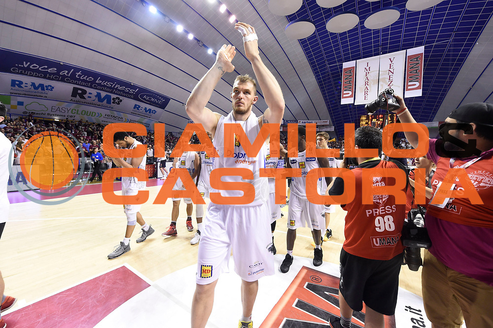 esultanza Lechthaler Luca<br /> Umana Reyer Venezia - Dolomiti Energia Trento<br /> Lega Basket Serie A 2016-2017<br /> Playoff Finale Gara 1<br /> Venezia 10/06/2017<br /> Foto Ciamillo-Castoria