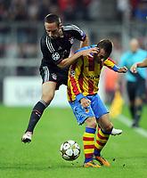 v.l. Franck Ribery (Bayern), Joao Pereira<br /> Fussball Champions League, Gruppenphase, FC Bayern Muenchen - FC Valencia