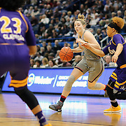HARTFORD, CONNECTICUT- JANUARY 4:  Katie Lou Samuelson #33 of the Connecticut Huskies is defended by Alexandra Frazier #1 of the East Carolina Lady Pirates during the UConn Huskies Vs East Carolina Pirates, NCAA Women's Basketball game on January 4th, 2017 at the XL Center, Hartford, Connecticut. (Photo by Tim Clayton/Corbis via Getty Images)