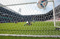 20.08.2011, Weser Stadion, Bremen, GER, 1.FBL, Werder Bremen vs SC Freiburg, im Bild.0:1 durch Papiss Cissé (Freiburg #9) gegen Tim Wiese (Bremen #1)Aufgenommen mit der Hintertorkamera.// during the Match GER, 1.FBL, Werder Bremen vs SC Freiburg on 2011/08/20,  Weser Stadion, Bremen, Germany..EXPA Pictures © 2011, PhotoCredit: EXPA/ nph/  Kokenge       ****** out of GER / CRO  / BEL ******