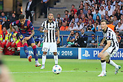 Barcelona Neymar shoots during the Champions League Final between Juventus FC and FC Barcelona at the Olympiastadion, Berlin, Germany on 6 June 2015. Photo by Phil Duncan.