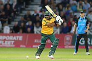 Samit Patel of Nottinghamshire Outlaws batting during the Vitality T20 Blast North Group match between Nottinghamshire County Cricket Club and Worcestershire County Cricket Club at Trent Bridge, West Bridgford, United Kingdon on 18 July 2019.
