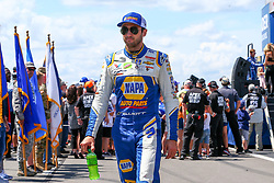 July 29, 2018 - Long Pond, PA, U.S. - LONG POND, PA - JULY 29:  Monster Energy NASCAR Cup Series driver Chase Elliott NAPA Auto Parts Chevrolet (9) during driver introductions prior to the Monster Energy NASCAR Cup Series - 45th Annual Gander Outdoors 400 on July 29, 2018 at Pocono Raceway in Long Pond, PA. (Photo by Rich Graessle/Icon Sportswire) (Credit Image: © Rich Graessle/Icon SMI via ZUMA Press)