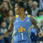 Chicago Sky Forward Tamera Young (1) runs the floor during a WNBA preseason basketball game between the Chicago Sky and the New York Liberty Sunday, May. 01, 2016, at The Bob Carpenter Sports Convocation Center in Newark, DEL Photo By Saquan Stimpson
