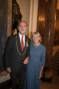 CHRISTOPHER LE BRUN; CHARLOTTE VERITY, Opening Reception for Oceania, an exhibition which celebrates the art of the Pacific region. Royal Academy. London. 25 September 2018