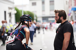 Elena Cecchini (ITA) chats before Giro Rosa 2018 - Stage 10, a 120.3 km road race starting and finishing in Cividale del Friuli, Italy on July 15, 2018. Photo by Sean Robinson/velofocus.com