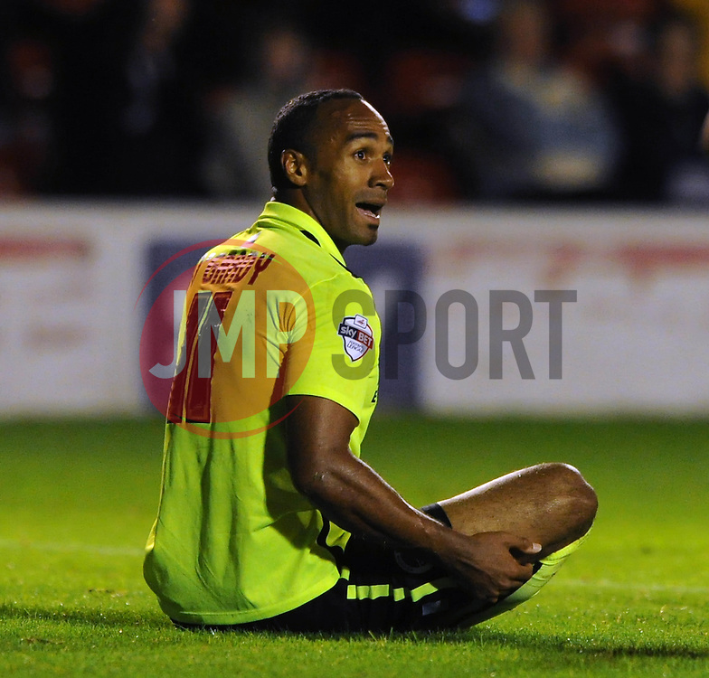 Chris O'Grady of Brighton & Hove Albion - Mandatory byline: Dougie Allward/JMP - 07966386802 - 25/08/2015 - FOOTBALL - Bescot Stadium -Walsall,England - Walsall v Brighton - Capital One Cup - Second Round