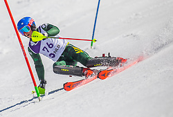 76# Crawford Warwick from Australia during the slalom of National Championship of Slovenia 2019, on March 24, 2019, on Krvavec, Slovenia. Photo by Urban Meglic / Sportida