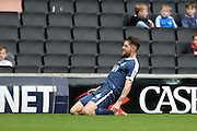 Southend United midfielder Anthony Wordsworth (4) scores a goal and celebrates (0-2) during the EFL Sky Bet League 1 match between Milton Keynes Dons and Southend United at stadium:mk, Milton Keynes, England on 22 October 2016. Photo by Dennis Goodwin.