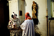 Clowns at the annual joseph Grimaldi Church sevice