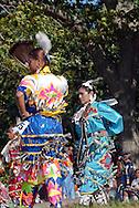 New York, Southampton, Shinnecock Powow, Shinnecock Indian Nation, Indian woman  jingle dress dance