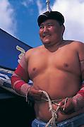 Mongolian wrestler<br /> Naadam festival<br /> Ulaanbaatar race track<br /> Mongolia