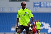 Gaetan Bong of Brighton & Hove Albion during the Pre-Season Friendly match between Brighton and Hove Albion and Sevilla at the American Express Community Stadium, Brighton and Hove, England on 2 August 2015. Photo by Ellie Hoad.