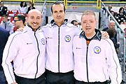 DESCRIZIONE: Casale Monferrato LNP ADECCO GOLD 2013/2014 Novipiu Casale Monferrato-Pallacanestro Trieste 2004  <br /> GIOCATORE: Arbitri<br /> CATEGORIA: pregame arbitri<br /> SQUADRA: Novipiu Casale Monferrato<br /> EVENTO: Campionato LNP ADECCO GOLD 2013/2014<br /> GARA: Novipiu Casale Monferrato-Pallacanestro Trieste 2004 <br /> DATA: 27/04/2014<br /> SPORT: Pallacanestro <br /> AUTORE: Junior Casale/G.Gentile<br /> Galleria: LNP GOLD 2013/2014<br /> Fotonotizia: Casale Monferrato Campionato LNP ADECCO GOLD 2013/2014 Novipiu Casale Monferrato-Pallacanestro Trieste 2004<br /> Predefinita: