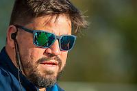 AMSTELVEEN - bondscoach Max Caldas (Ned)  voor de tweede  Olympische kwalificatiewedstrijd hockey mannen ,  Nederland-Pakistan (6-1). Oranje plaatst zich voor de Olympische Spelen 2020.  COPYRIGHT KOEN SUYK