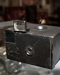 "The Kaprelian collection holds many examples of important developments in the history of photography. ""Le Pascal"", The first motorized camera was built arround 1898 by Japy Freres et Cie. This photo is captured in 8fps burst mode with a DSLR to honor the invention.<br /> <br /> ...<br /> <br /> November 18, 2011 - Philadelphia, PA; An impressive collection of more than 350 old cameras will be put up for auction on Saturday, Nov. 19, 2011 at Fuller's Fine Art Auctions in Philadelphia, PA.<br /> <br /> ( A selection of photos from this collection are published with the Nov 18, 2011 article by Alan Tu on WHYY's NewsWorks.org: ""Vintage cameras to be auctioned off Saturday by Mt. Airy auction house"" - You can read the article here: http://www.newsworks.org/index.php/local//mt-airychestnut-hill/30073-vintage-cameras-to-be-auctioned-off-saturday-by-mt-airy-auction-house )<br /> <br /> The cameras were collected by Edward Kaprelian (1913-1997), who after WWII became an expert on camera and lens technology. In May 1945, the U.S. Army seized more than 2,000 Carl Zeiss lenses from Germany as ""war reparations"" and turned them over to Kaprelian, who was then serving as Chief of the U.S. Army Signal Corps Engineering Labs in Fort Monmouth, N.J. <br /> <br /> Kaprelian went on to become an avid collector of photographic equipment and materials during his lifetime and amassed a large collection of important cameras spanning the history of photography."