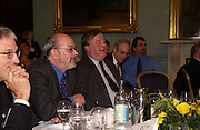 Professor John Benyon and Kenneth Clarke, Political Studies Association Awards 2004. Institute of Directors, Pall Mall. London SW1. 30 November 2004.  ONE TIME USE ONLY - DO NOT ARCHIVE  © Copyright Photograph by Dafydd Jones 66 Stockwell Park Rd. London SW9 0DA Tel 020 7733 0108 www.dafjones.com
