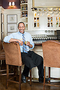 Bartender Phillip Ivey at the bar at the Carolina Inn.