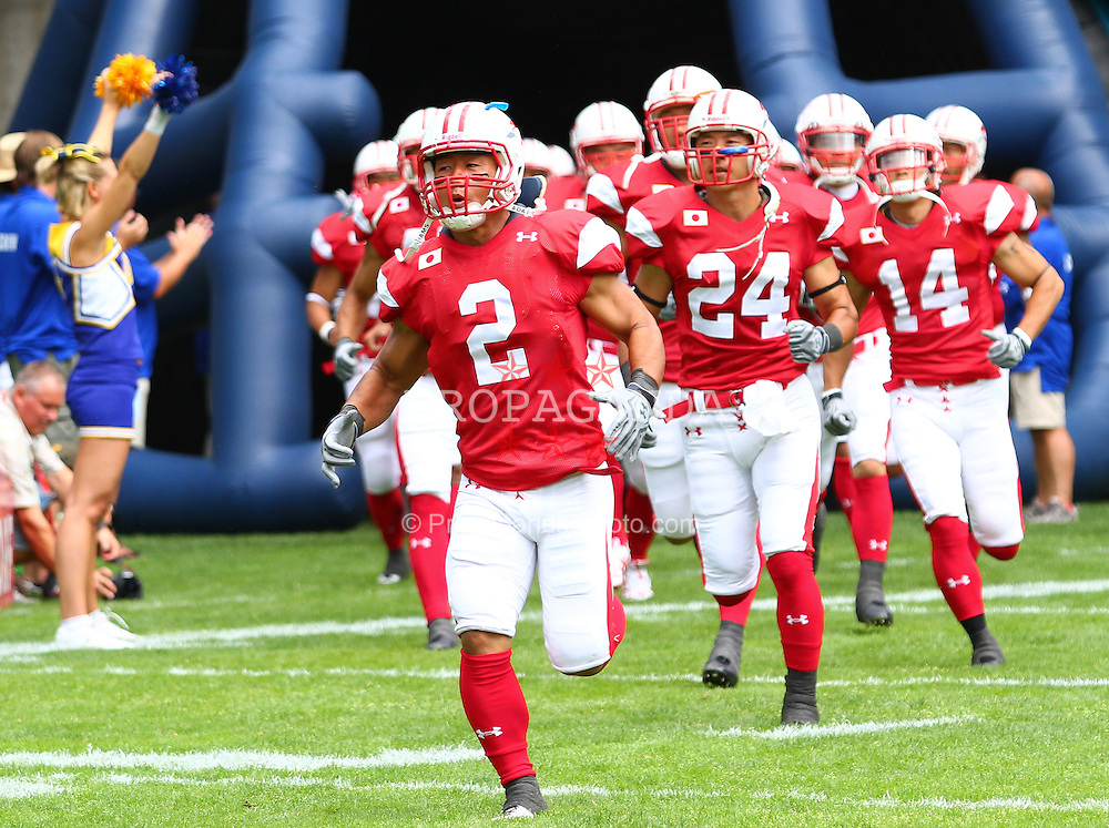 11.07.2011, UPC Arena, Graz, AUT, American Football WM 2011, Group B, Japan (JAP) vs France (FRA), im Bild team japan enters the field // during the American Football World Championship 2011 Group B game, Japan vs France, at UPC Arena, Graz, 2011-07-11, EXPA Pictures © 2011, PhotoCredit: EXPA/ T. Haumer