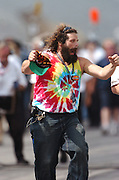 Rupert Boneham of the TV show Survivor seen at the Indianapolis Motor Speedway. Photo by Michael Hickey