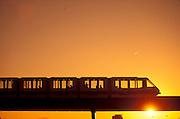 Monorail at Newark Airport.