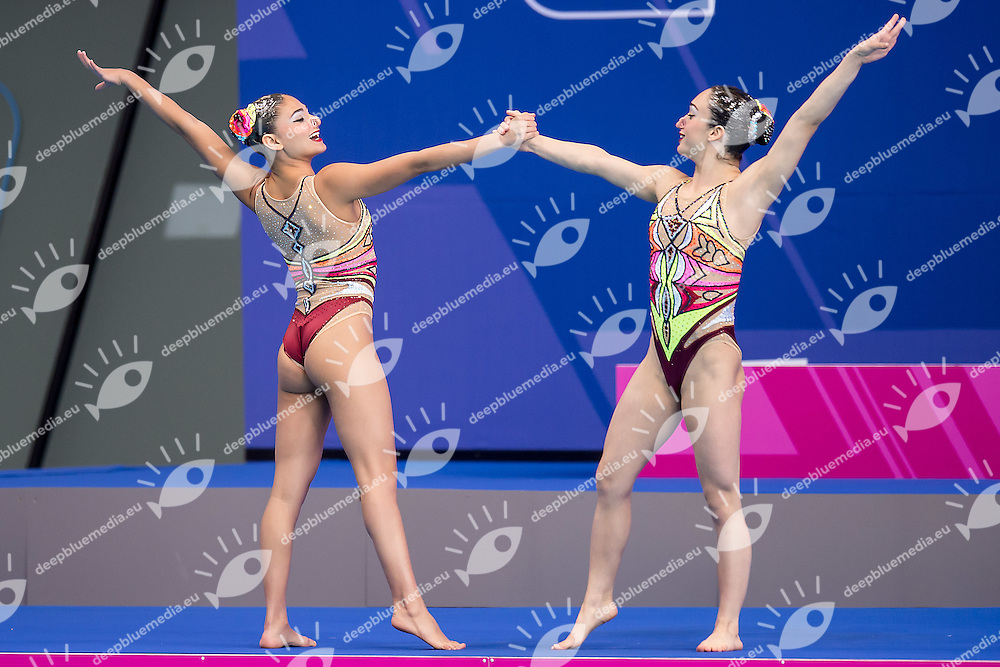 BAKIRCI Defne  TUR GUNDES Misra  TUR<br /> London, Queen Elizabeth II Olympic Park Pool <br /> LEN 2016 European Aquatics Elite Championships <br /> Synchronised Swimming Synchro Duet Tech<br /> Day 06 13-05-2016<br /> Photo Giorgio Scala/Deepbluemedia/Insidefoto