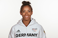 Miryam Roper- Yearwood poses at a photocall during the preparations for the Olympic Games in Rio at the Emmich Cambrai Barracks in Hanover, Germany, taken on 12/07/16 | usage worldwide