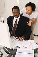 Client Talking with Accountant